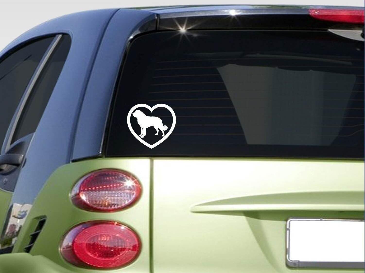 Heart Saint Bernard Sticker Decal Rescue Dog Dogfood Computer Sticker Attention Valid Discount 15 Custom Window Decals Vinyl Window Decals Door Bumper [ 1125 x 1502 Pixel ]