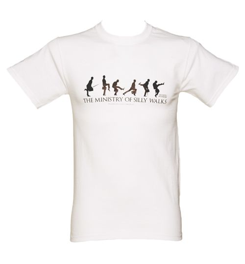 Men's White Ministry Of Silly Walks Monty Python T-Shirt