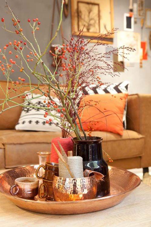 Voeg oranje toe aan je interieur  woonkamer in 2019