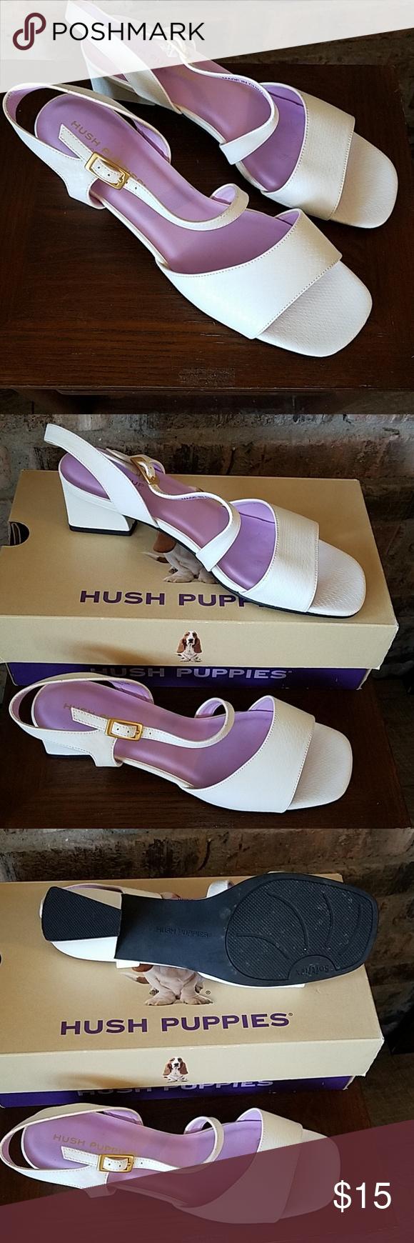 Dress Sandals White Hush Puppies Sz 8 Dress Sandals Hush