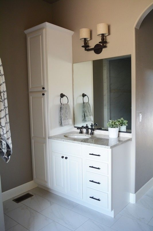 Image Result For Bathroom Vanity With Tower Bathroom Vanity Designs Small Bathroom Vanities Bathrooms Remodel