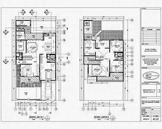 denah rumah minimalis sederhana 1 lantai denah rumah