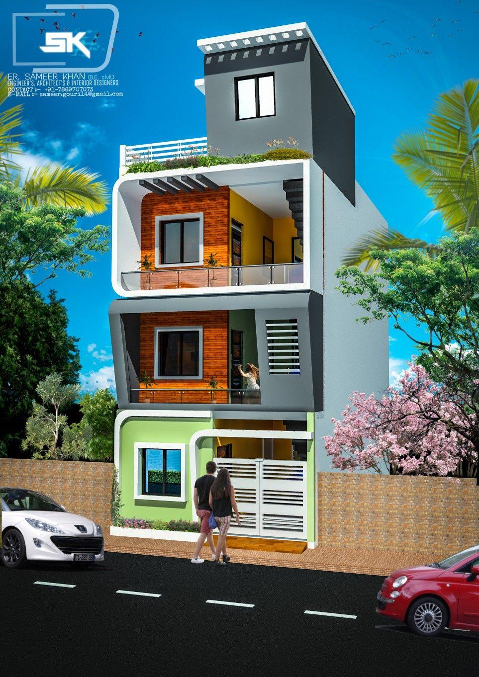 Introducing modern house exterior elevations of g 2 house by er sameer khan uniquehomedesigner
