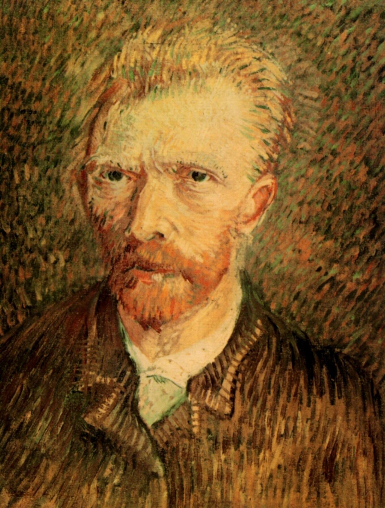 Self Portrait Brownl Vincent Van Gogh HD Art Canvas Print Oil Painting