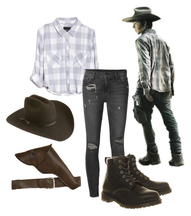 """Carl Grimes Cosplay ComicCon 2.0"" by hannahmarie4300 ❤ liked on Polyvore featuring Silverado, Rails, Ksubi, Dr. Martens, flannel, TWD, chandlerriggs, carlgrimes and comicconfashion"