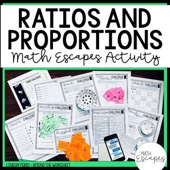 7th Grade Ratios and Proportional Reasoning Escape Room ...