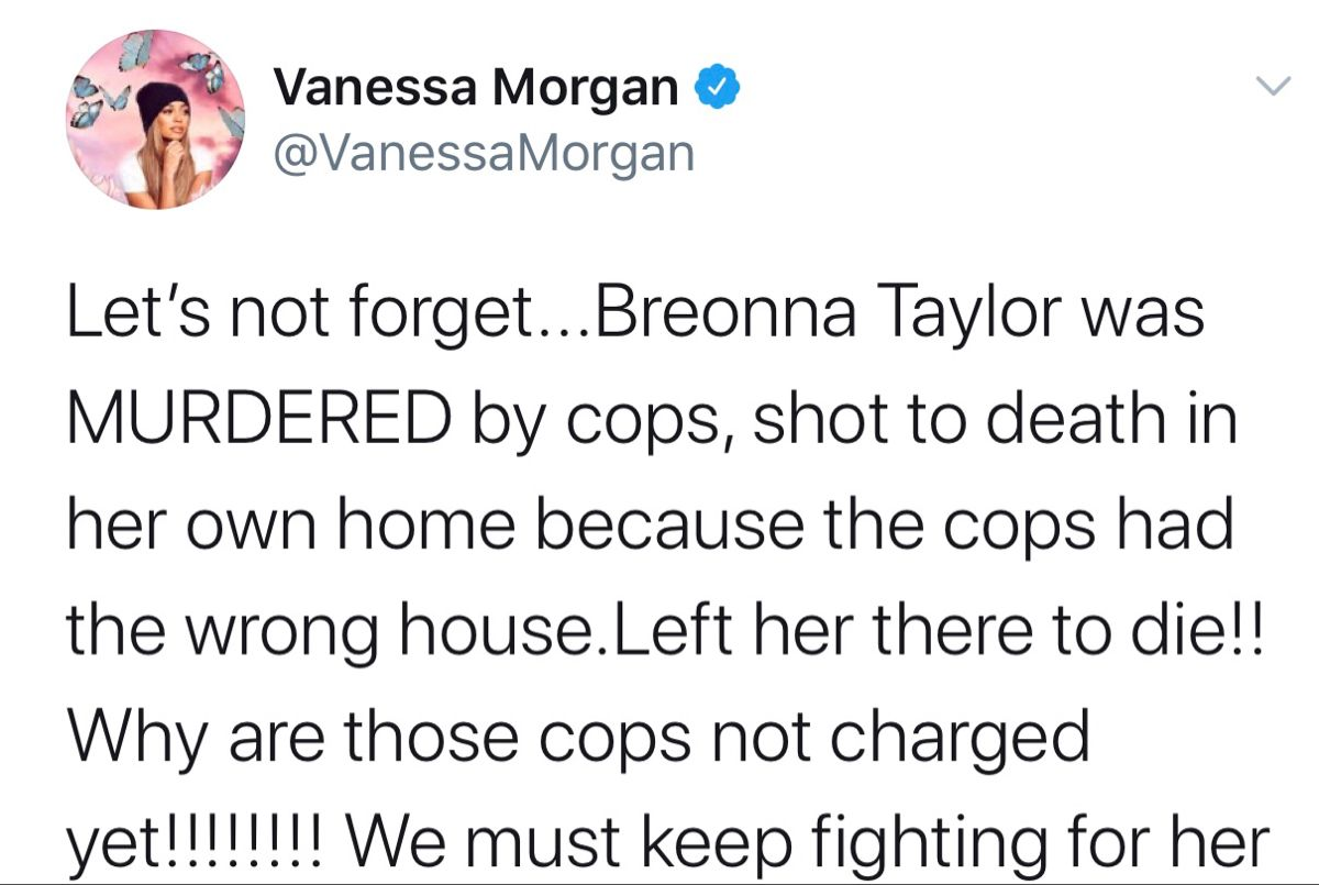 Feminist Quotes Tweets Breonna Taylor Police Brutality Black Lives Matter Blm