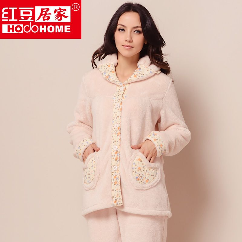 eff4858d16c women s autumn and winter sleepwear thickening coral fleece pajama sets  free shipping  82.50 Night Suit For