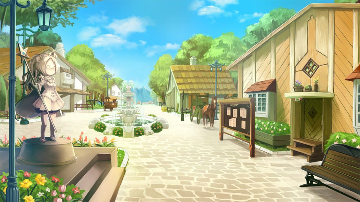 Town Street Art from Atelier Lulua The Scion of Arland