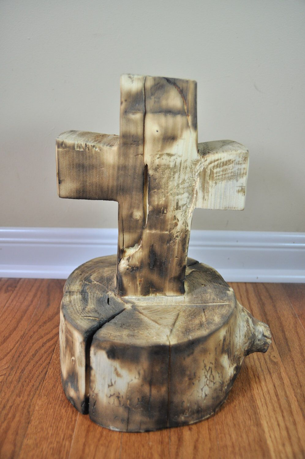Carved Wooden Cross by REPURPOSEGALLERY on Etsy https://www.etsy.com/listing/110971919/carved-wooden-cross