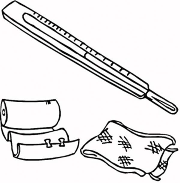 Medical First Aid Package Coloring Page Coloring Sky Coloring Pages Medical Color