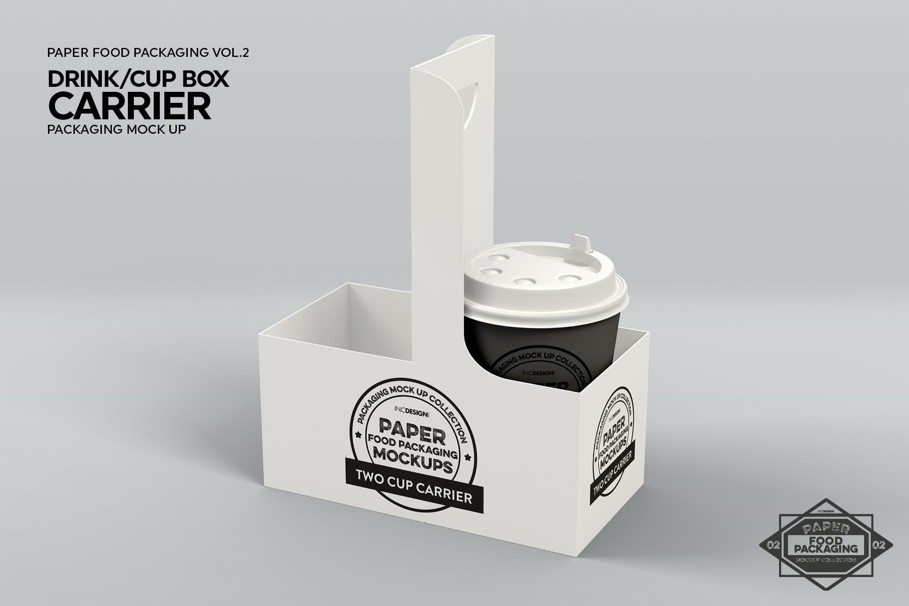 Download Drink Cup Carrier Packaging Mockup Packaging Mockup Drinking Cup Drink Carrier