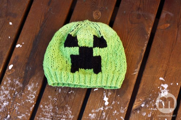 Crochet Minecraft hat by minaitte.net