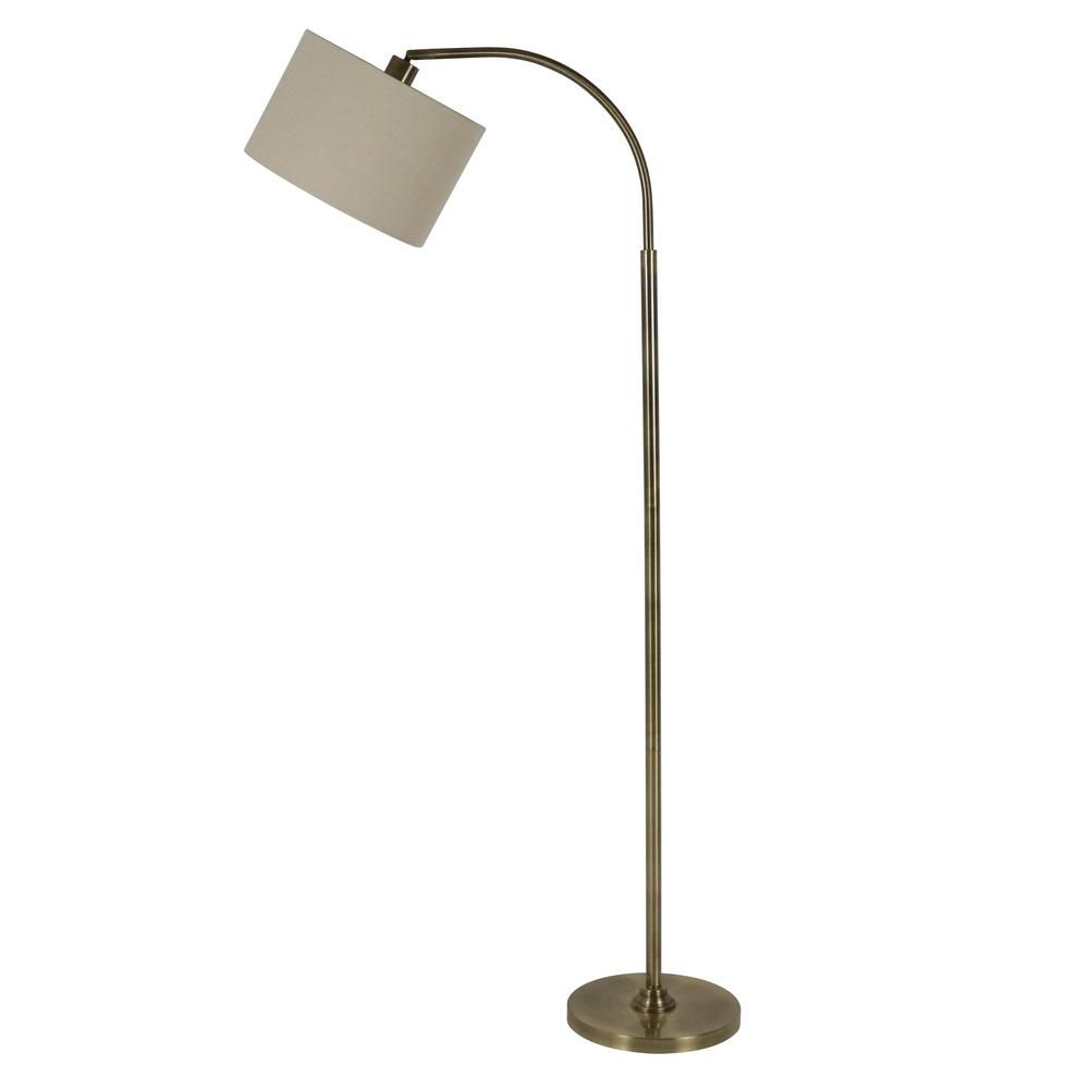 Decor Therapy Asher 60 In Brass Floor Lamp With Shade Pl3932