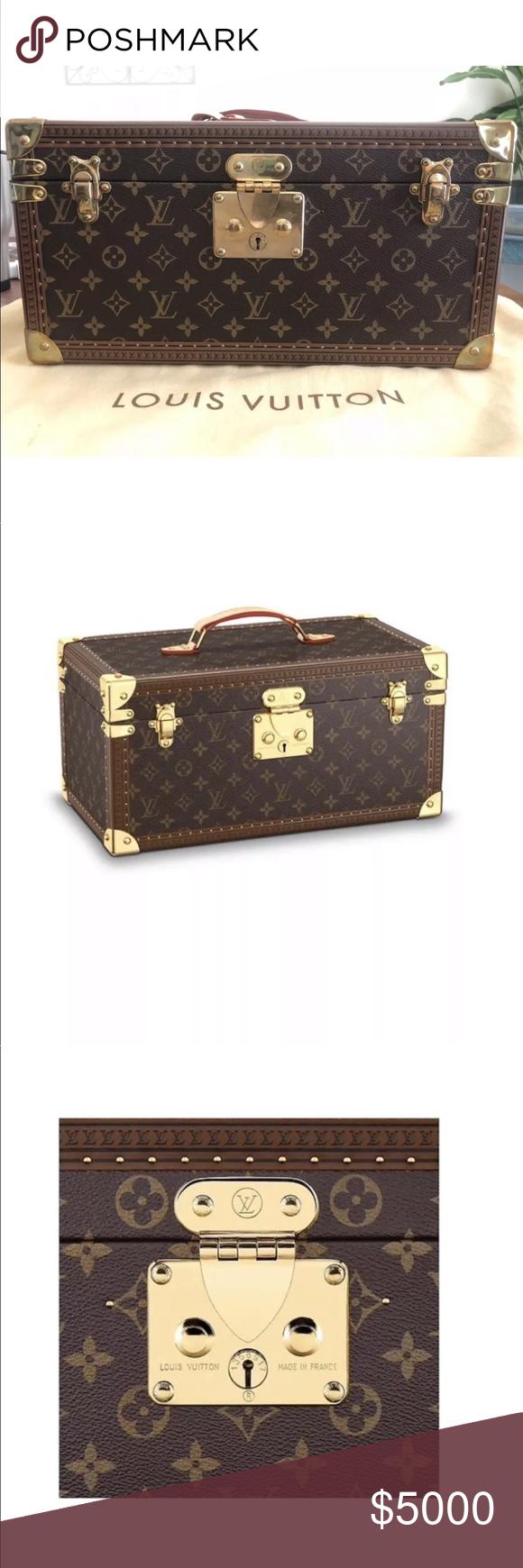 39852d18ca6a Louis Vuitton boite travel case cosmetic train new Louis Vuitton BOITE  BOUTEILLES ET GLACE Cosmetic Case Travel Box Luggage This case in Monogram  canvas ...