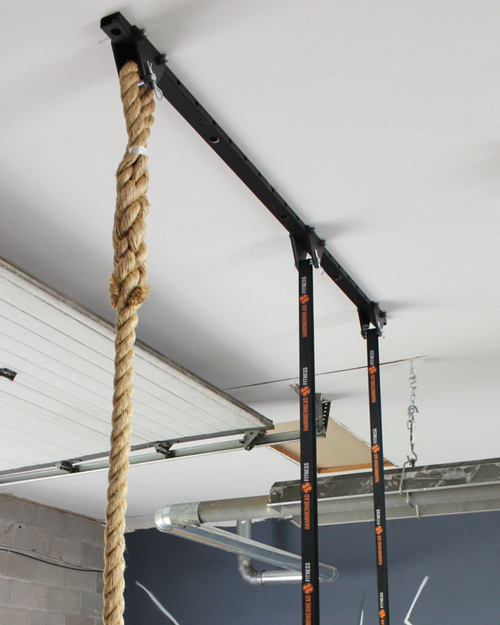 Ceiling mount system for hanging things from beams crossfit in