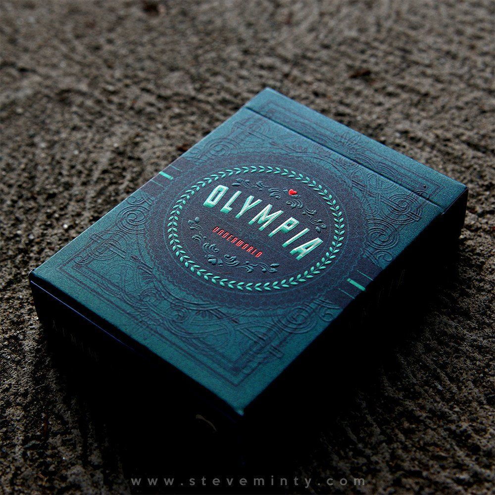 Olympia is an original set of American playing cards designed by Steve Minty and produced by the United States Playing Card Company (USPCC). The deck is inspired by the fascinating stories of Greek Go