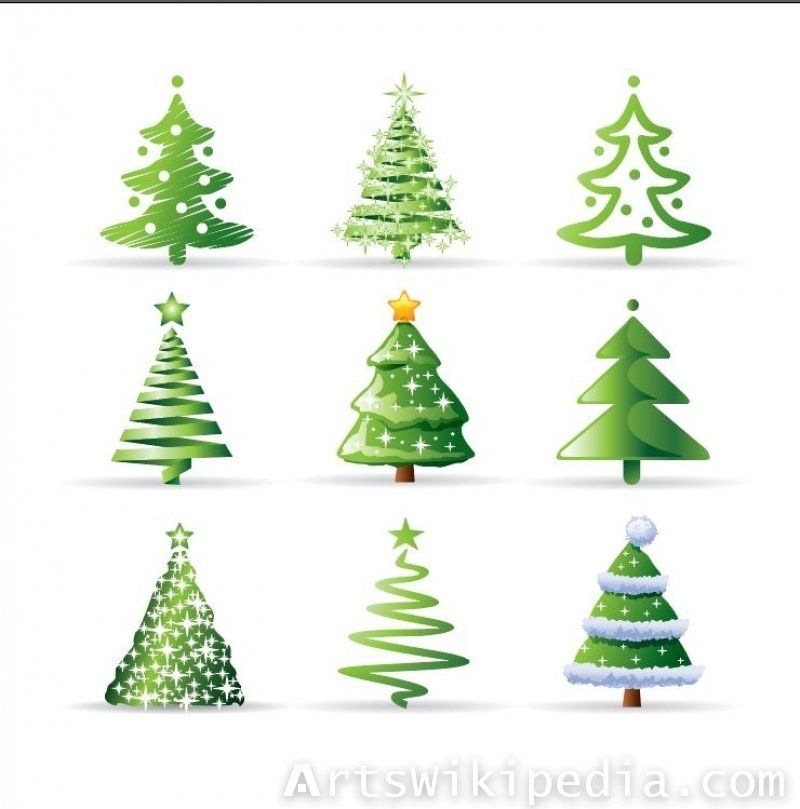 Multiple Illustration For Christmas Trees Cartoon Christmas Tree Christmas Vectors Christmas Tree Images