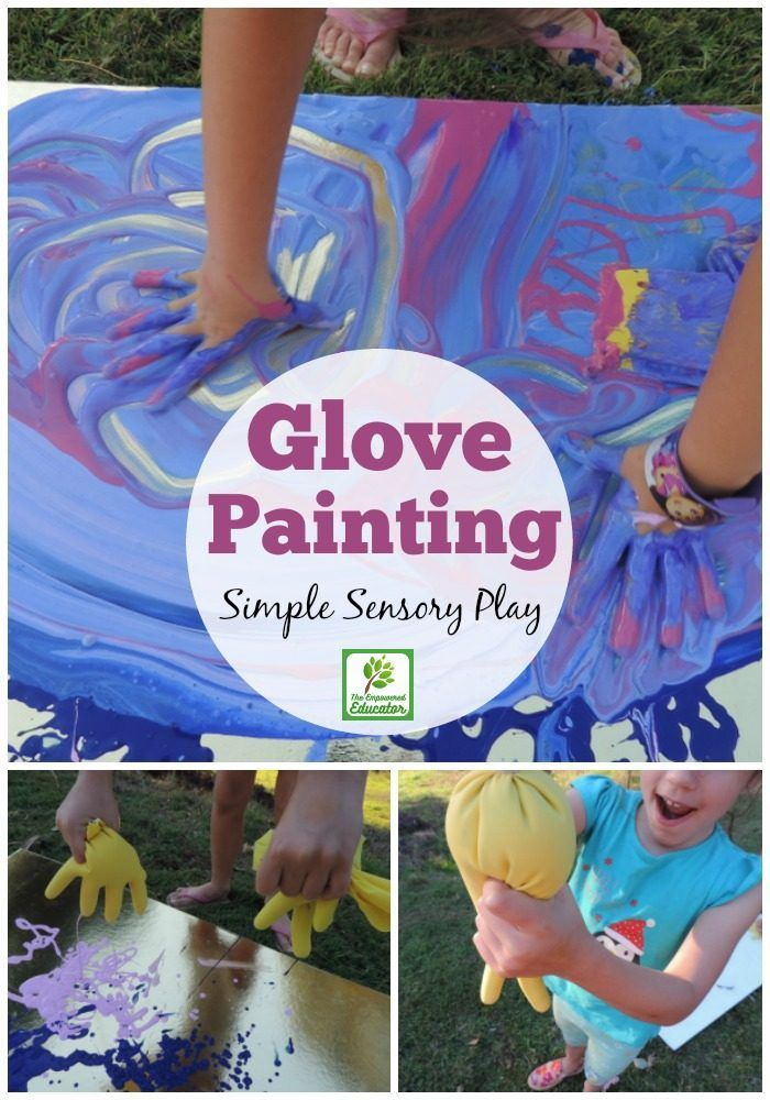 Rubber Glove Sensory Play Painting Activity For Children Early Childhood Education Activities Early Childhood Activities Childcare Activities What is sensory play for preschoolers