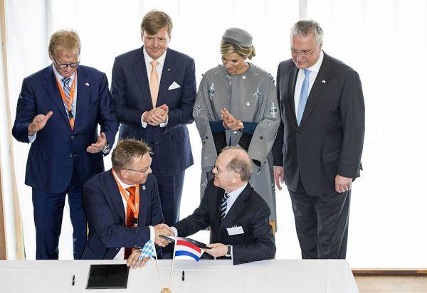 King Willem Alexander and Queen Maxima visit Erlangen and Nuremberg
