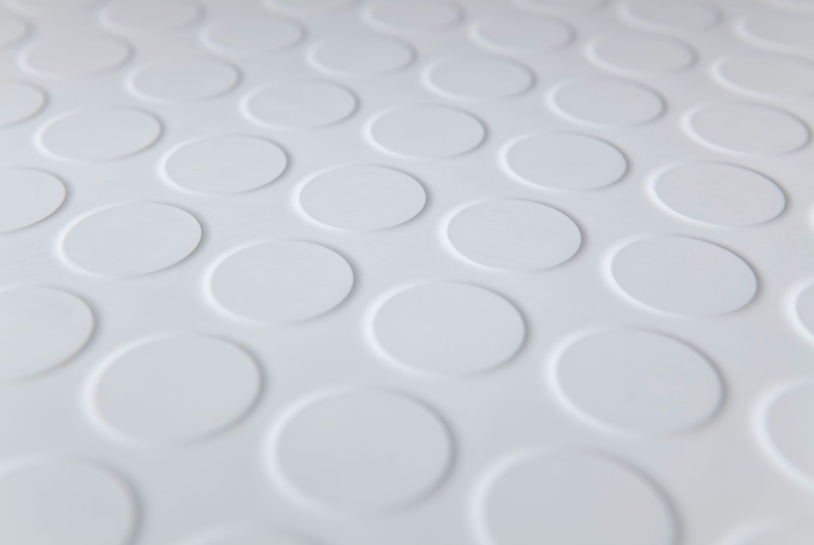 Aluminium colour round stud rubber flooring | The Rubber Flooring ...