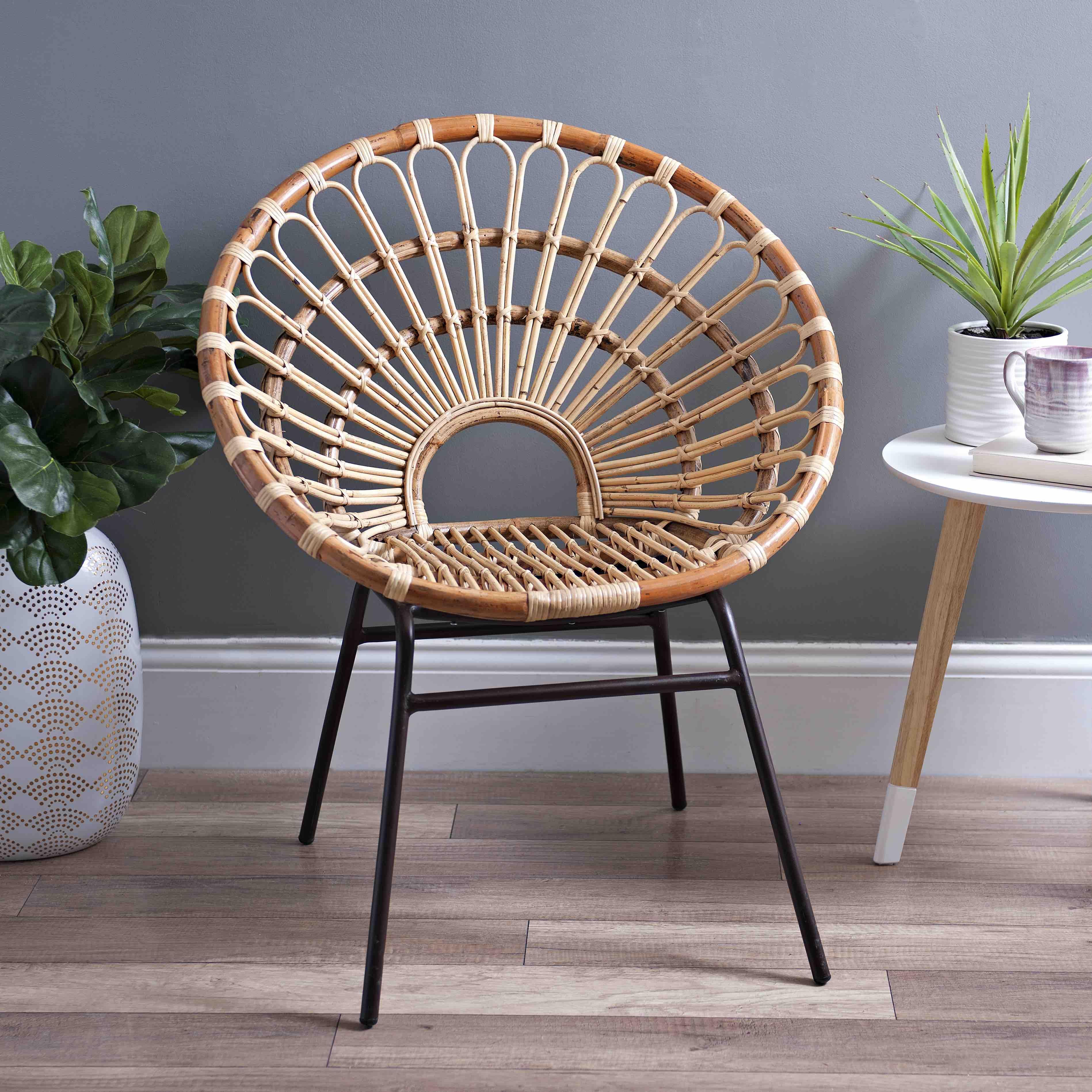 Dana Rattan Chair Rattan Chair Living Room Rattan Chair Boho Chair