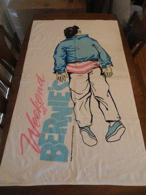 1989 Vintage Weekend At Bernies Movie Beach Towel Hard 2 Find Great Condition Ebay