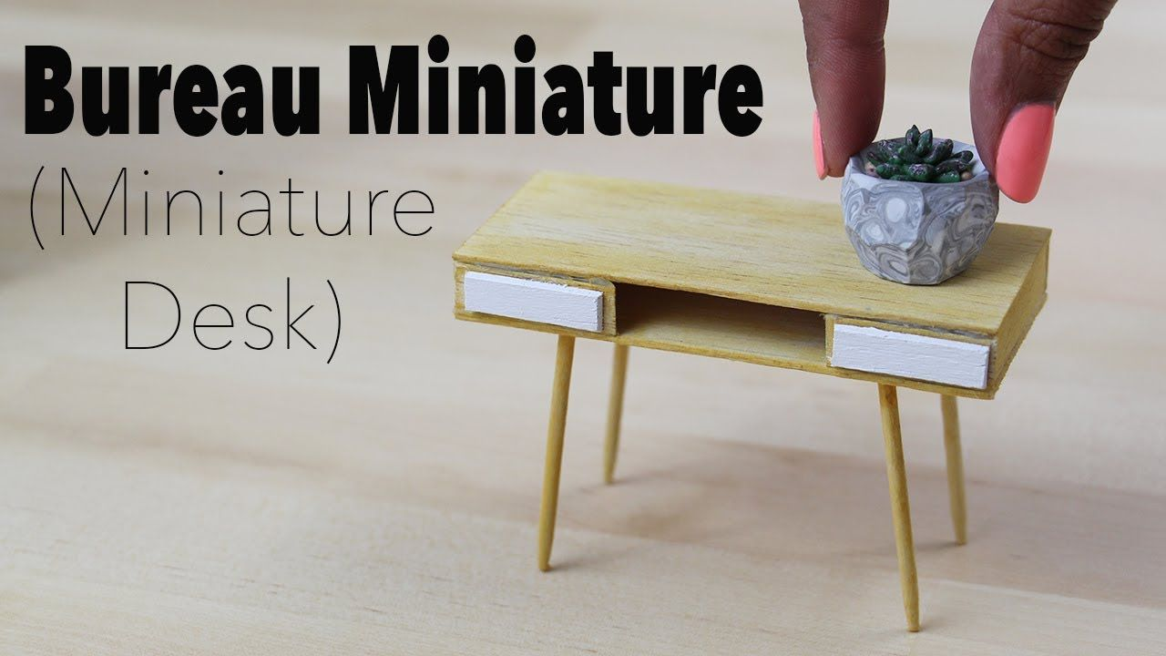 Bureau maison du monde miniature desk 1 12⎪doll house