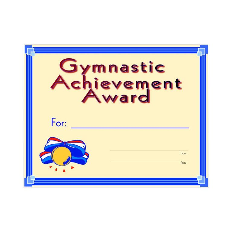 gymnastics certificate template award achievement gymnastic within certificates printable awards templates gifts xfanzexpo