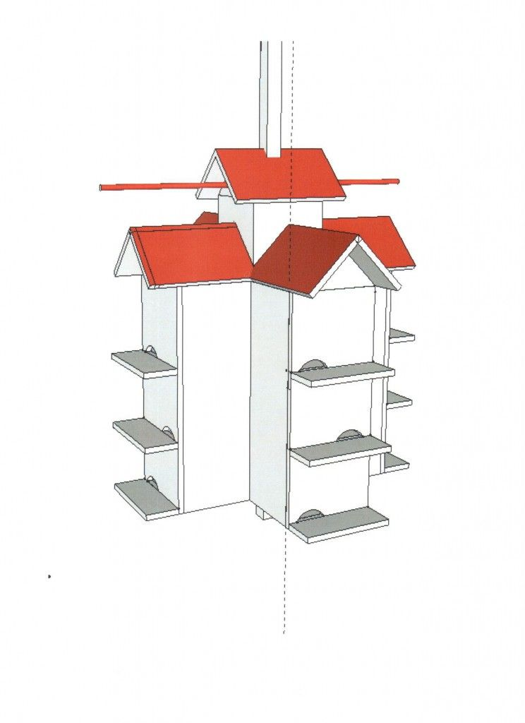 Free Purple Martin House Plans Modified Rondeau Wooden