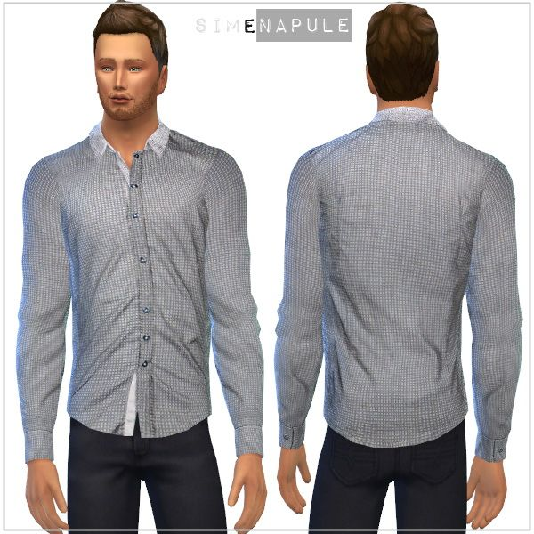 Shirts for males by Ronja at Simenapule via Sims 4 Updates