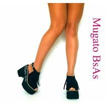 Zapatos Sandalias Con Flecos Plataforma Moda Verano 2017