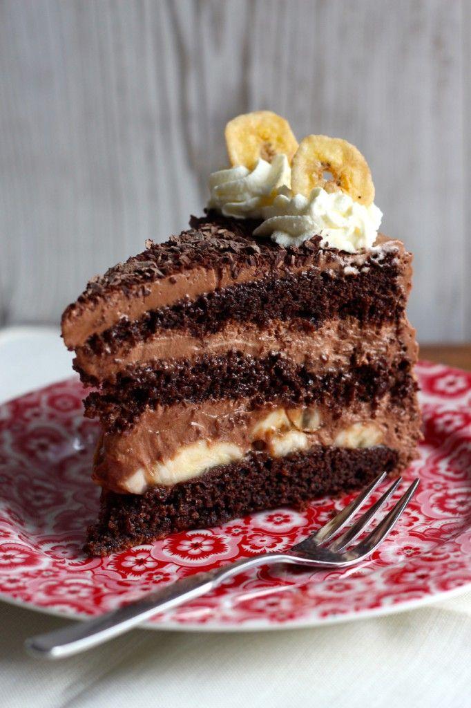 Schoko Torte Mit Banane Kuchen Kuchen Schoko Und Bananen