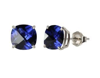 10k White Gold Blue-Sapphire Earrings Online Auction sold for $3.34