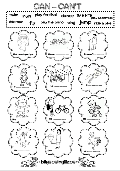 Can Can T Worksheet Bilgeceingilizce English Lessons For Kids English Activities For Kids English Grammar For Kids