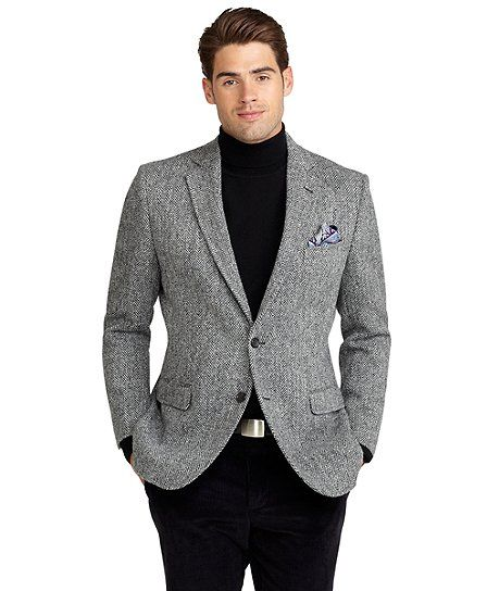 ebb0f482a2b Fitzgerald Fit Harris Tweed Sport Coat Black-White
