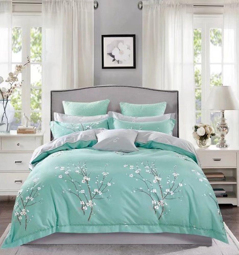Japanese Oriental Style Cherry Blossom Floral Print Duvet Quilt Cover 3 Piece Cotton Bedding Set Full Queen Or Full Bedding Sets Bedding Sets King Bedding Sets
