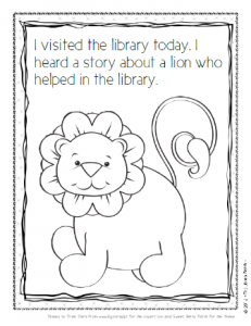 library lion coloring sheet for the library pinterest library