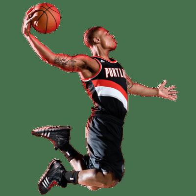 Damian Lillard Dunk Basketball Photography Portland Blazers Damian Lillard