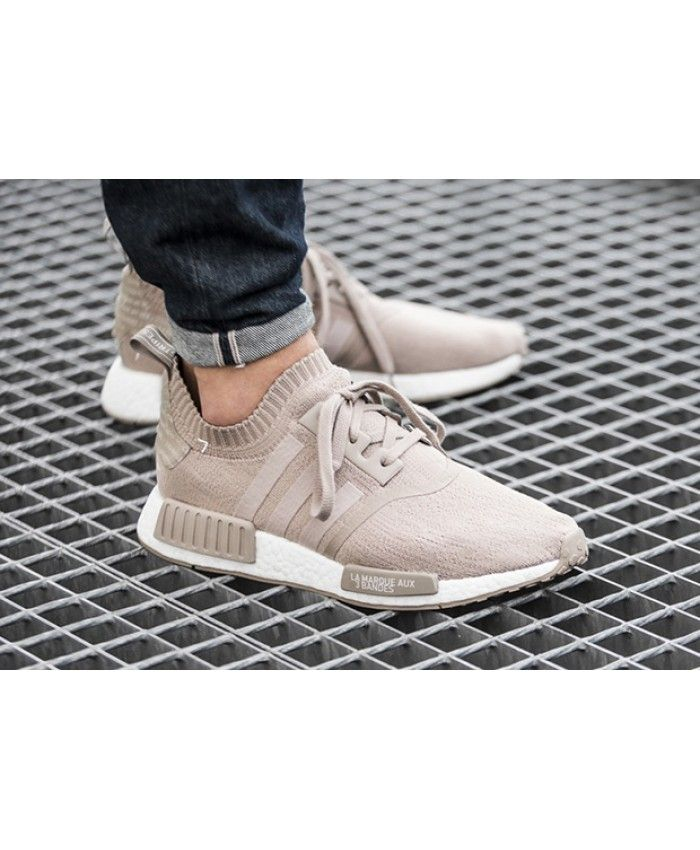 44590bb75ebaa Adidas NMD Runner Beige Primeknit Vapour Grey Shoes