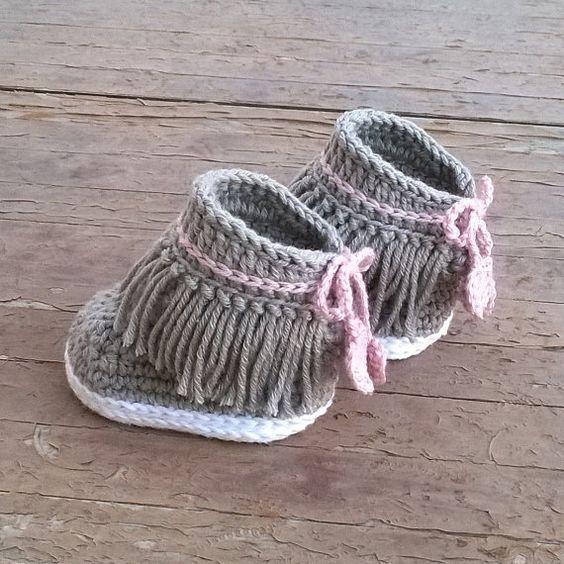 Crochet PATTERN. Dakota baby sneakers | Pinterest | Stiefel, Muster ...