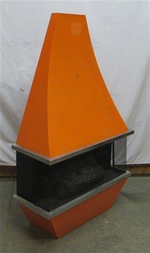 Orange Electric Fireplace Heater Danish Modern Space Age 50s 60s 70s Mid Century My Thomas