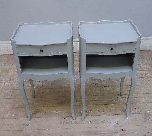 Pair Of Vintage French Bedside Tbales