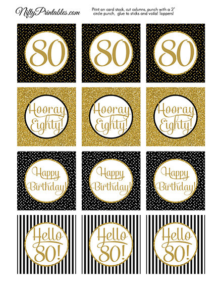 Gold 24 Counts Glitter Sixty and Number 60 Cupcake Toppers 60th Birthday Celebrating Party Decorations