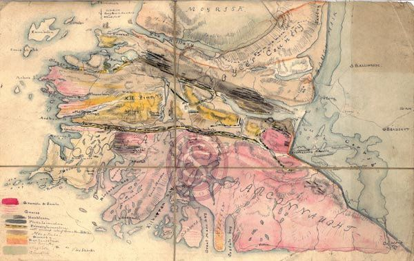 Geological map of Connemara, Ireland  Creator: Alexander Nimmo