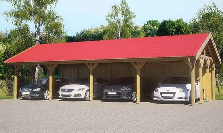 Reihencarport für 4 Autos (mit Bildern) Carport