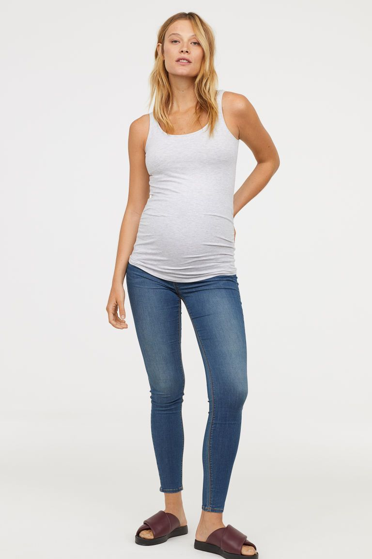 f856890076615 MAMA 2-pack jersey vest tops - Dark blue/Light grey - Ladies   H&M GB 1