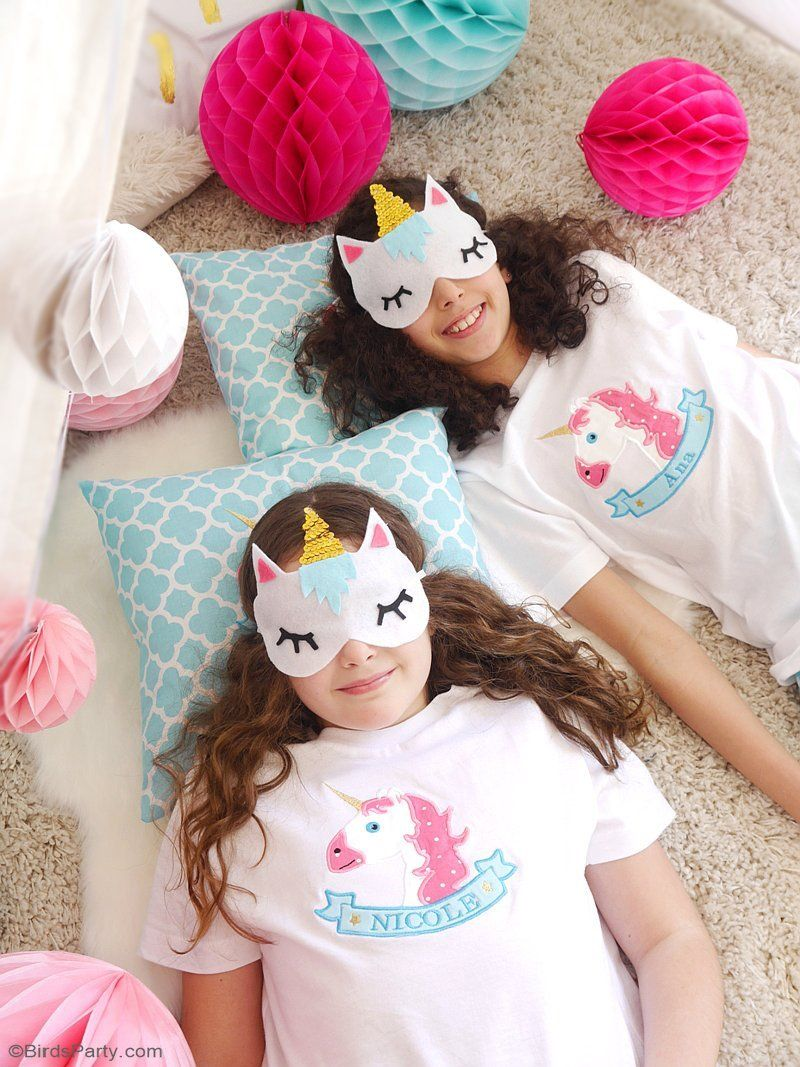 Pink and gold unicorn birthday party ideas lots of slumber party