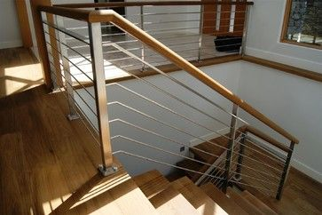Oak Stainless Steel Interior Railing Contemporary Staircase Vancouver By Avilion Metalcraf Indoor Railing Interior Railings Stainless Steel Staircase
