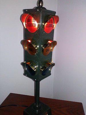 Vintage 1960's B B Productions Stoplight Bar Lamp